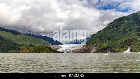 View of Mendenhall Glacier in Alaska - Stock Photo