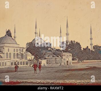 Sultan Ahmed's Mosque, Felice Beato, English, born Italy, 1832 - 1909, James Robertson, English, 1813 - 1888, 1855 reimagined - Stock Photo