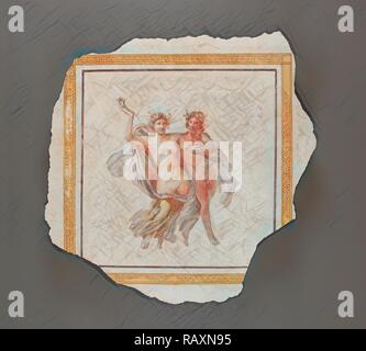 Fresco Panel Depicting Dionysos and Ariadne, Unknown, Italy, Europe, 1st century, Fresco, Object: H: 94 x W: 93 x D reimagined - Stock Photo