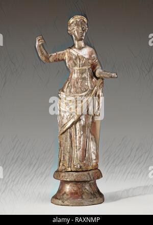 Statuette of Venus, Unknown, Roman Empire, 2nd - 3rd century, Silver, Object: H: 19.2 x Diam. (base): 54 cm (7 9/16 x reimagined - Stock Photo