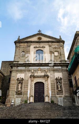 Basilica di Santa Maria della Catena in Castiglione di Sicilia, an old village not far from Taormina, Sicily, which in 2017 was voted one of the 5 mos - Stock Photo