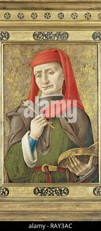 Saint Damian (or Cosmas), attributed to Bartolommeo Vivarini, 1465 - 1480. Reimagined by Gibon. Classic art with a reimagined - Stock Photo