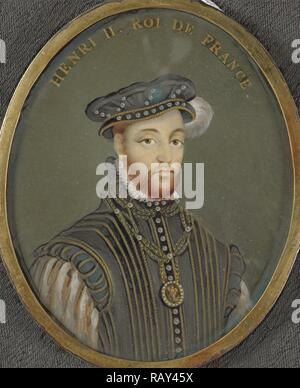Henry II, 1518-59, king of France, Anonymous, 1700 - 1799, Portrait miniature. Reimagined by Gibon. Classic art with reimagined - Stock Photo
