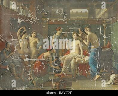 The Toilet of Psyche, Joseph Paelinck, 1823. Reimagined by Gibon. Classic art with a modern twist reimagined - Stock Photo