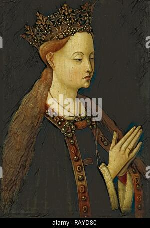 The Virgin, Anonymous, c. 1500. Reimagined by Gibon. Classic art with a modern twist reimagined - Stock Photo