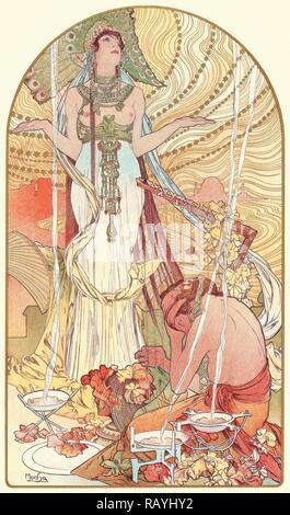 Alphonse Mucha (Czech, 1860 - 1939). Incantation (Salammbo), ca. 1897. Color lithograph on wove paper. Sheet: 405 mm reimagined - Stock Photo