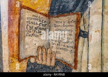 Italy Basilicat Acerenza Cathedral fresco - Stock Photo