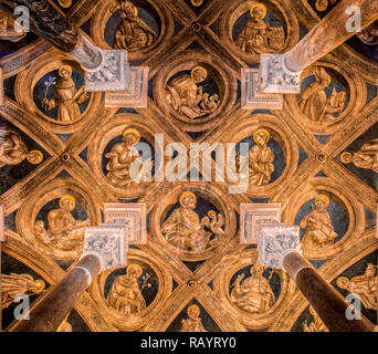Italy Basilicat Acerenza Cathedral crypt ceiling - Stock Photo
