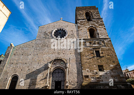 Italy Basilicat Acerenza Cathedral facade - Stock Photo