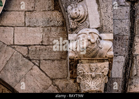 Italy Basilicat Acerenza Cathedral portal facade - Stock Photo