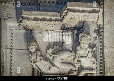 Italy Basilicat Acerenza Cathedral crypt - Stock Photo