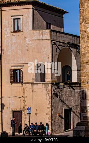 Italy Basilicat Acerenza view - Stock Photo