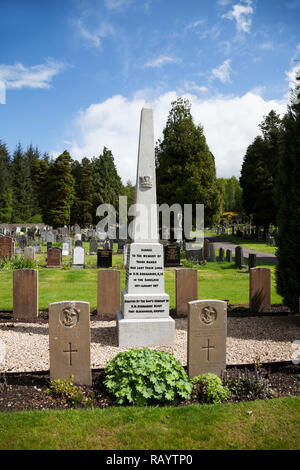 The memorial to the 31 officers, men and civilian engineers of the submarine K13 who died when their vessel sunk in the Gareloch on the 29th January,  - Stock Photo