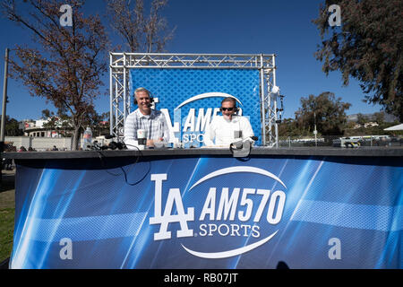 Pasadena CA. 01st Jan, 2019. Radio remote for LA AM570 Sports before the Washington Huskies vs Ohio State Buckeyes at the Rose Bowl in Pasadena, Ca. on January 01, 2019 (Photo by Jevone Moore) Credit: csm/Alamy Live News - Stock Photo