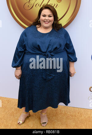 LA, USA. 5th Jan 2019. Chrissy Metz attends the 6th Annual 'Gold Meets Golden' Party Hosted by Nicole Kidman and Nadia Comaneci at The House On Sunset in Hollywood January 5, 2019. Credit: The Photo Access/Alamy Live News - Stock Photo