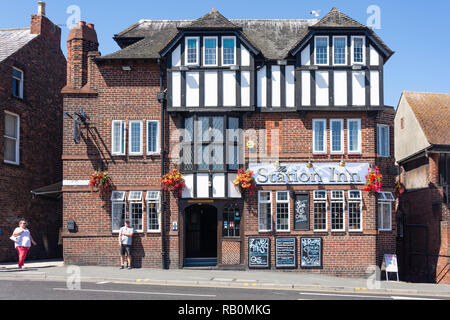 The Station Inn, New Quay Road, Whitby, North Yorkshire, England, United Kingdom - Stock Photo