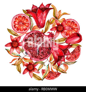 Cute colorful floral tropical frame, border on white ...
