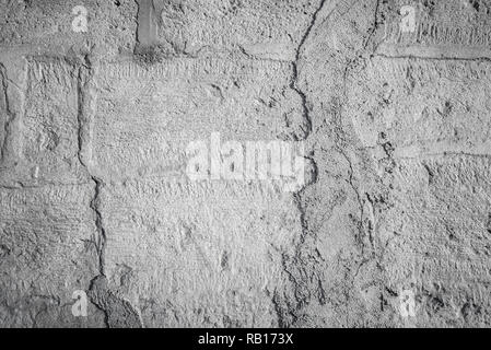 Gray concrete wall with grunge for abstract background - Stock Photo