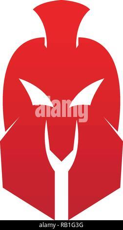 Vector sign. Spartan helmet logo template vector icon - Stock Photo