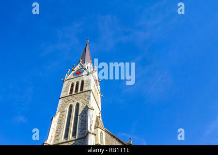 Church, Vaduz, Liechtenstein - Stock Photo
