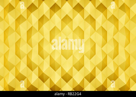 3d rendering: Abstract golden background with endless pyramid shapes