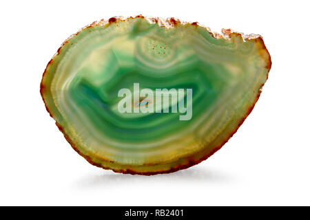Green Agate polished- clipping path - Stock Photo
