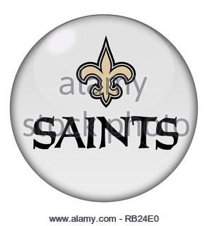 New Orleans Saints logo sign - Stock Photo