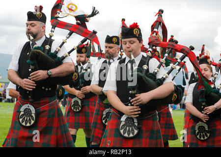 The Great Highland Bagpipe played at Highland games - Stock Photo