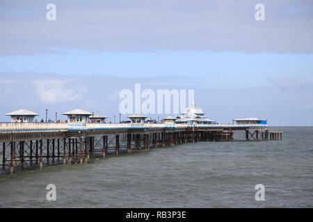 Victorian Era Pier, Llandudno, Conwy County, North Wales, Wales, United Kingdom, Europe - Stock Photo