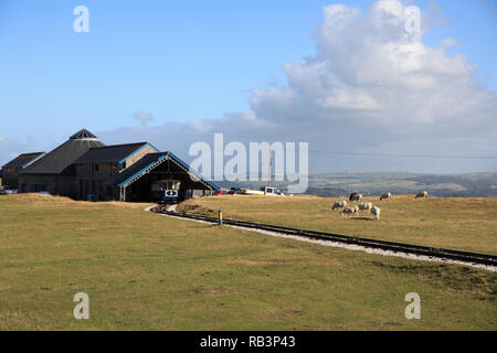 Tramway Station, Great Orme, Llandudno, Conwy County, North Wales, Wales, United Kingdom, Europe - Stock Photo