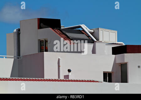 view of the old blue panel house with balconies stock photo rh alamy com