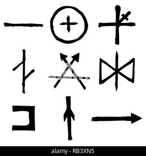 Wiccan symbols imaginary cross symbols, inspired by