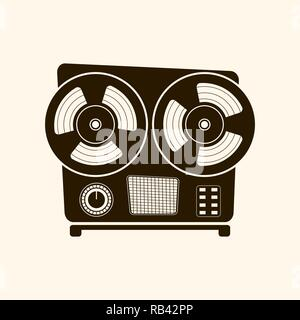 Cassette player retro style .Vector .On light background. - Stock Photo
