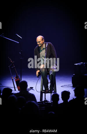 The Grammy-award winning singer, songwriter and musician James Taylor performs a live concert at Falconer Salen in Copenhagen. Denmark, 16/09 2014. EXCLUDING DENMARK. - Stock Photo