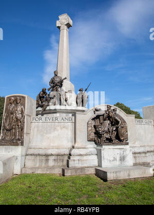 Memorial to mark Lever Brothers employees lost in the First World War and added to after the Second World War at Port Sunlight Wirral September 2018 - Stock Photo