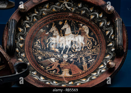 Italy Basilicata Melfi Castle National archeologic museum - Stock Photo