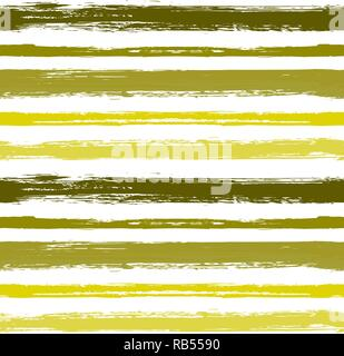 Seamless Pattern with Hand Drawn Grunge Strips.Paint stripes grunge background vector.  Monochrome background in summer colors. Horizontally arranged  - Stock Photo