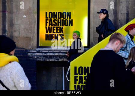 London fashion week men's, London, Uk - Stock Photo