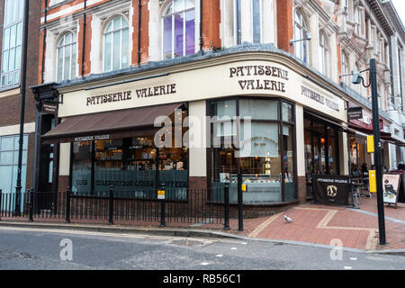 The Patisserie Valerie Cafe on Broad Street in Reading, Berkshire, UK - Stock Photo