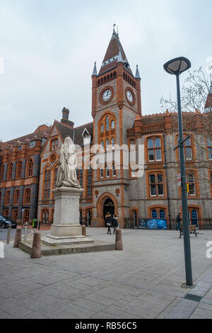 Reading Town Hall on Blagrave Street in Reading, UK - Stock Photo