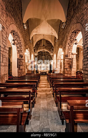 Italy Basilicata Vaglio Mother Church of St. Peter the Apostle - Stock Photo