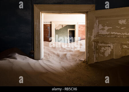 Deserted House in Kolmanskop - Stock Photo