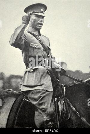 Chiang Kai-shek (1887-1975) Former President of the Republic of China, was a 20th-century Chinese political and military leader. He is known as Jiang Jieshi or Jiang Zhongzheng in Standard Chinese. - Stock Photo