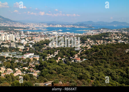 General view of Toulon (Var,France) - Stock Photo