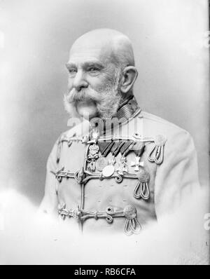 Franz Joseph I of Austria, Franz Joseph I, Francis Joseph I (1830 – 1916) Emperor of Austria, King of Hungary, and monarch of many other states of the Austro-Hungarian Empire, from 1848 to his death - Stock Photo