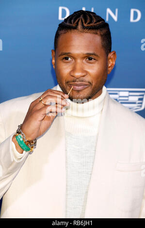 Los Angeles, USA. 5th Jan 2019. Usher attending The Art of Elysium's 12th Annual Celebration - Heaven on January 5, 2019 in Los Angeles, California. Credit: Geisler-Fotopress GmbH/Alamy Live News - Stock Photo