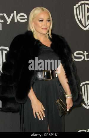 Beverly Hills, CA, USA. 6th Jan, 2019. 06 January 2019 - Beverly Hills, California - Hilary Duff. 2019 InStyle and Warner Bros. 76th Annual Golden Globe Awards After Party held at The Beverly Hilton Hotel. Photo Credit: AdMedia Credit: AdMedia/ZUMA Wire/Alamy Live News - Stock Photo