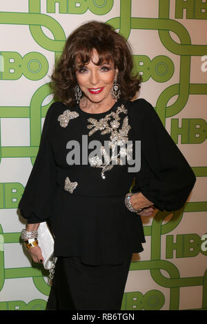 Beverly Hills, CA, USA. 6th Jan, 2019. LOS ANGELES - JAN 6: Joan Collins at the 2019 HBO Post Golden Globe Party at the Beverly Hilton Hotel on January 6, 2019 in Beverly Hills, CA Credit: Kay Blake/ZUMA Wire/Alamy Live News - Stock Photo