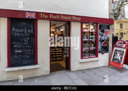 The Bath Sweet Shop, Bath, England - Stock Photo