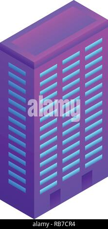 City smart building icon, isometric style - Stock Photo
